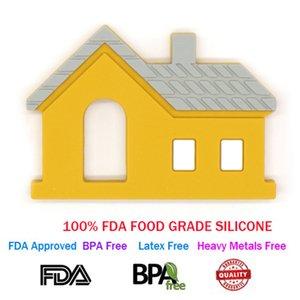 Новые FDA утвержденных силикона ребенка режутся зубы игрушка, имбирь дом в форме жевательные прорезыватель игрушка, BPA бесплатно Baby прорезыватель игрушка для малышей детей
