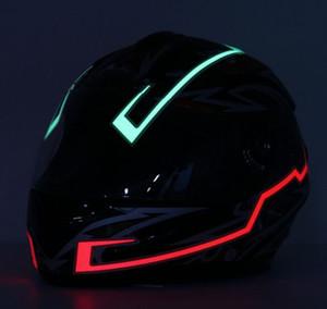 دراجة نارية خوذة ضوء قطاع الصمام ليلة إشارة ضوء الشريط أزياء مضيئة تعديل متوهجة البارات