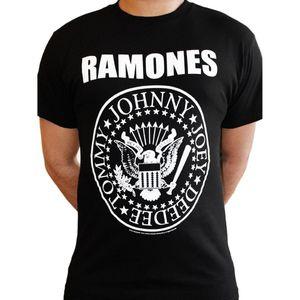 Ramones Präsidialdichtung Logo Rock Metal Music Neue Männer T-Shirt T-Shirt Tele-Sound aktiviert LED-T-Shirt Frankreich Socceriner-Jersey 2018