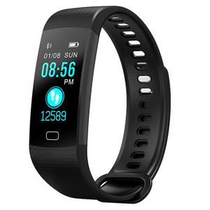 Y5 Color Screen Pressão Arterial Oxigênio No Sangue Rastreador de Fitness Monitor de Freqüência Cardíaca Pulseira Inteligente Pulseira 90 mah IP67 Smartwatch Relógio Inteligente