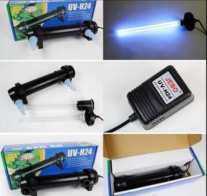 JEBO 5W ~ 36W Wattaggio UV Sterilizzatore Lampada Lampada Filtro ultravioletto Chiarificatore Filtro acqua per acquario Stagno Coral Koi Fish Tank