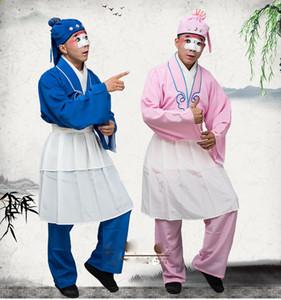 Chinois ancien opéra clowns Opéra thé serveur vêtements Dalang clown fatigues opéra vendeur vêtements Peking magasin Hawker costume