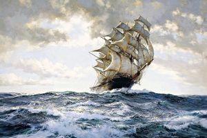 Das stolze Schiff von Montague Dawson Handgemalte HD Print Seascape Kunstreproduktion Ölgemälde Wandkunst auf Leinwand Multi Größen l48