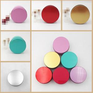 جولة شعبية القصدير مربع تخزين المعادن حالة فارغة المنظم خبأ 5 ألوان 7.5 سنتيمتر od للمجوهرات المال عملة مفاتيح الزفاف الحلوى يو القرص سماعة