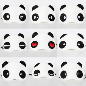 9pcs Panda Face Eye Travel Sleeping Mask Blindfold Festa di Natale regalo Birthday Party Mask Regalo per adulti Forniture per feste