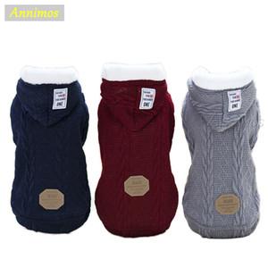 2018 nuovi calda Hotsale Pet invernale con cappuccio Abbigliamento Cani maglione invernale giacca di lana del cappotto per Puppy Abbigliamento Two Legs Abbigliamento