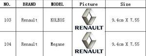 9.4 cm * 7.55cm 4d Emblem Logo Megans Emblems Koleos Renault Car Light LED per Badge Light Sticker OSMLV