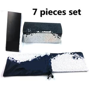 Brand New Hard Case Hower Gancho Sunglasses Box 7 Peças Definir opcional Moda Esportes Sunglasses Box Frete Grátis