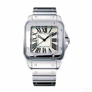 Повседневная Мужские Квадратные Часы Женева Подлинная Нержавеющая Сталь Кварцевые Часы Модные Мужские Часы Мужские Наручные Часы