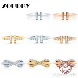 DORAPANG 100% 925 Sterling Silver Ring Genuine Charm Classic Ring 14 Gold & Rose Gold Selection Women Gift Original Jewelry