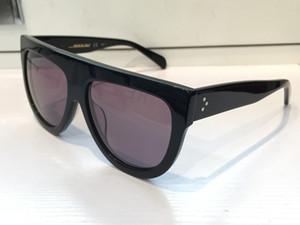 41026 خمر النظارات الشمسية أودري أزياء المرأة مصمم كبير الإطار البيضاوي رفرف الأعلى المتضخم الأعلى النظارات الشمسية ليوبارد الكمبيوتر اللوح الخشبي الإطار المواد