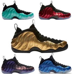 shoes Barato oro metálico Penny hardaway para hombre cómodos zapatos de baloncesto Pippen Duncan OSCURO OSCURO FOAM zapatos de entrenamiento de baloncesto zapato de las mujeres8-13
