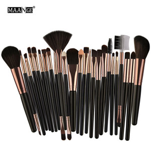 Pennelli da trucco Set 25pcs Fondotinta MAANGE Blending Blush Ombretto Eye Brow Lash Fan Pennello per labbra Strumenti di bellezza Make Up Pennelli Kit