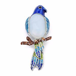 LOULEUR New Multicolor Requintado Papagaio Pedra Natural Shell Pingente Charme Pingente para As Mulheres Descobertas Jóias Fazendo Uso Duplo