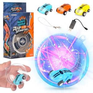 Mini alta velocidade Laser Light carros spinner 360 ° rotações Engraçado luzes legais muitos tipos de truques Recarregando USB crianças brinquedos 360 ° girar 2 engrenagens