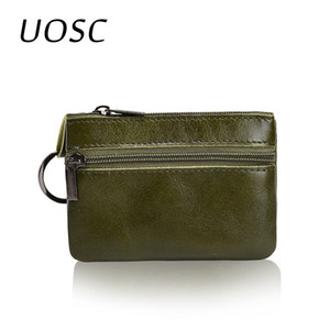 UOSC Fashion Vintage Faux Leather Women Lady Wallet Clutch Short Small Coin Purse  New Soft Solid Two Zip Square Bag Hot