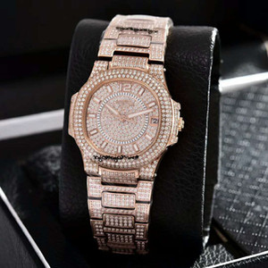 New Luxury women's Watch Sapphire mirror with automatic mechanical movement Diamond inlay women's watches