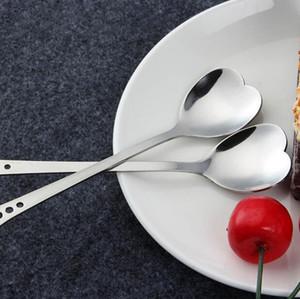 Amanti a forma di cuore Amore Caffè Tè Misurino Cucchiaio Amante Bomboniere Stoviglie da tavola in acciaio inox 2 Cucchiaino da caffè in1