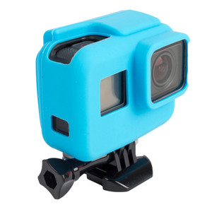 Soft Silicone Protective Housing Case Cover for GoPro Hero 6 5 Sport Camera Rubber Cases Gopro hero 5 Skin Fundas Coque Wholesale Black