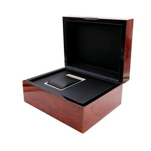 Alta Qualidade De Luxo De Madeira vermelho IW Relógios De Pulso Caixa De Papel Interior Externo Cartão De Livreto Em Inglês Universal Assista Caixas De Presente Caixas