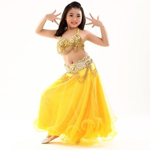 2018 Belly Dance Kids Indian Dress For Girl 3pcs Niñas Ropa india Danza del vientre Niños bailando Danc tribal