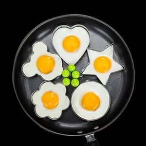 5pcs lot stainless Steel Fried Egg Shaper egg Pancake Ring Mould Mold Kitchen Cooking Tools Stainless Steel kitchen cooking tool unique