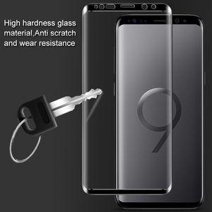 Vetro temperato curvo a copertura totale 3D per Samsung Galaxy S9 S8 Plus9 Pellicola protettiva per schermo9 A9 2018 HD 9H