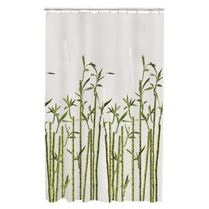 Memory Home Bamboo Photo Real Spa Bathroom Decor Special Collection Waterproof Fabric Shower Curtain Machine Washable White