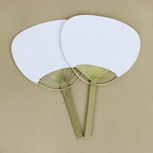 Chic Paper Paddle Hand Fans with Bamboo Frame and Handle Wedding Party Favors Gifts Paddle Paper Fan Spanish Fan
