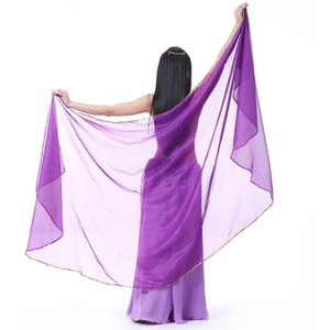 2017 Stage Performance Belly Dance Scarf Chal Light Texture Half Circle Veles Mujeres Profesionales Danza del Vientre Velo Gasa