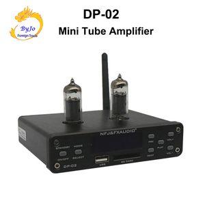 DP-02 Bluetooth 4.0 HiFi 6k4 Tüp Amplifikatör Taşınabilir preamplifikatör Kulaklık Amplifikatör ses kurulu U disk SD kart girişi