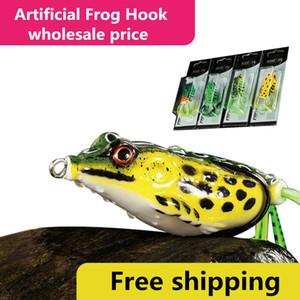 Мягкая резина Имитация Ray Frog Snakehead Рыболовные приманки 4.5cm-8g 5cm-11g 5.5cm-14g Смешайте цвета в штучной упаковке Лягушка приманка крючок
