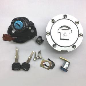 New Honda CBR1000RR 2008-2013 CBR600RR 2007-2013 Motorrad Zündschalter Brennstoffgaskappe Sitzschloss-Schlüsselsatz
