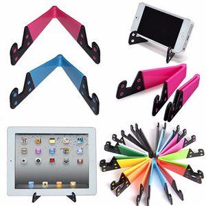 Support de support de téléphone portable universel pliable pour Smartphone et tablettes Support double en forme de V, support pliant pour téléphones Tablet PC Mout