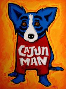 Perro azul George Rodrigue animal, pintura al óleo de reproducción de alta calidad Lámina Impresión en lienzo Modern Home Decor Arte G043