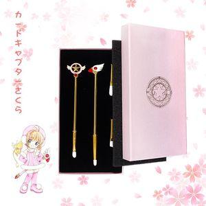 4 Stücke Nette Card Captor Sakura Make-Up Pinsel Set Kann Ersetzen Bürstenkopf Auge Lip Concealer Pinsel Kits Lidschatten Bilden Werkzeug