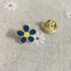 10pcs Forget Me Not Massonico WW2 Carino smalto Piccolo fiore Collar Pins Spilla e spille Sonvenior Badge for the Lodge