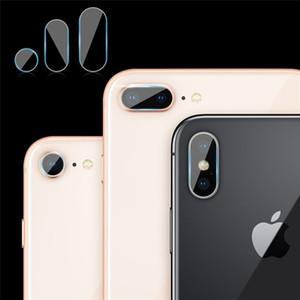 Rückseitige hintere Kameraobjektiv-Fiberglas-Schutzfilm-flexibler weicher ausgeglichenes Glas-Schirm-Schutz für Apple iphone X 7 8 6 6S plus 100 PCS
