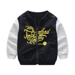 Xirubaby niños abrigo 2018 primavera niño carta Casual cremallera chaqueta Outwear niños abrigos niños chaquetas de béisbol