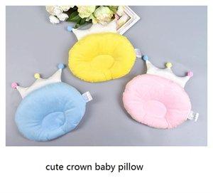 새로운 아기 코 튼 왕관 베개 플랫 머리를 방지 아기 베개 귀여운 크라운 모양 베개 신생아 소년 소녀 침구