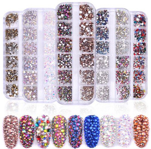 Tatyking 8 Styles Nail Art Kit strass strass clou Goujons demi-perle Cheval Eye Strass Nail Art de bricolage