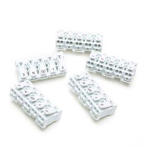 20 PCS Printemps Bloc Terminal Rapide Lampe Fil Connecteur Câble Électrique Pince Libre Vis Plug-Out Type Emplacement 923 P05 blanc