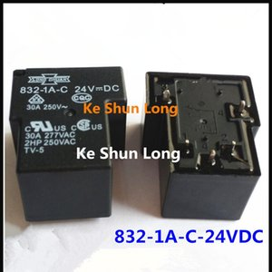Free shipping lot (5pieces lot) 100%Original New SONG CHUAN 832-1A-C 832-1A-C-24VDC 832-1A-C-24V 832-1A-C-DC24V 5PINS 30a 24VDC Power Relay