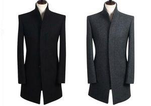 S-6XL HOT Hiver Hommes Nouvelle Mode Long Manteau En Tissu Loisirs Engrais Augmenté Single-breasted Trench-Coat