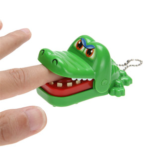 Mini Funny New Cartoon Animal Jouet Crocodile Dentiste Morsure Avec Porte-clés Bouche Couleur Aléatoire