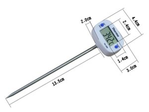 Newest Digital Food Thermometer BBQ Cooking Meat Hot Water Measure Household Cake Candy Fry Thermometers Probe Kitchen Thermograph Tool