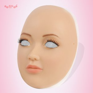 SH-4 silicone máscara feminina máscara humana crossdress silicone máscara feminina maricas menino whloesaler sem peruca