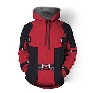 deadpool 2018 hoodie costume hood fashion plus size hoddie top for men women male Men's Sweatshirts Hip Hop Sportswear