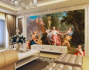 Home Decor sfondo per il desktop per soggiorno Wallpaper 3D stereoscopico murales dipinto ad olio occidentali carta da parati