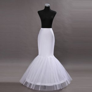 2019 billig Weiße Meerjungfrau Brautkleid Petticoat Meerjungfrau Slip Boden Länge Reißverschluss Petticoat Crinoline Unterkirt Petticoat
